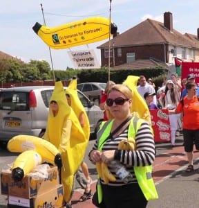 GFA goes bananas at Bridgemary Carnival-close up