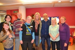 Some of the organisers, from GFA and the Southern Co-op with Julio and MP Caroline Dinenage