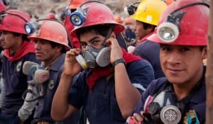 Fairtrade gold miners at Sotrami Mine in Peru take safely seriously.